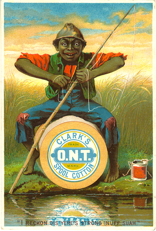 Victorian trade card for Clark's Thread.