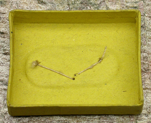 "6d American Fish Hook & Needle Co., #4, limerick, flatted, japanned. About 15/16"" long. Here you see the American Fish Hook & Needle Co. box in detail. Not only are the boxes different but as you can see by the two hooks from that box are not the same. Actually, as far as fish hooks are concerned, not even close to the same yet there are more in that box and I am certain that these hooks have remained undisturbed since they were made all those years ago. Why I love old hooks!"
