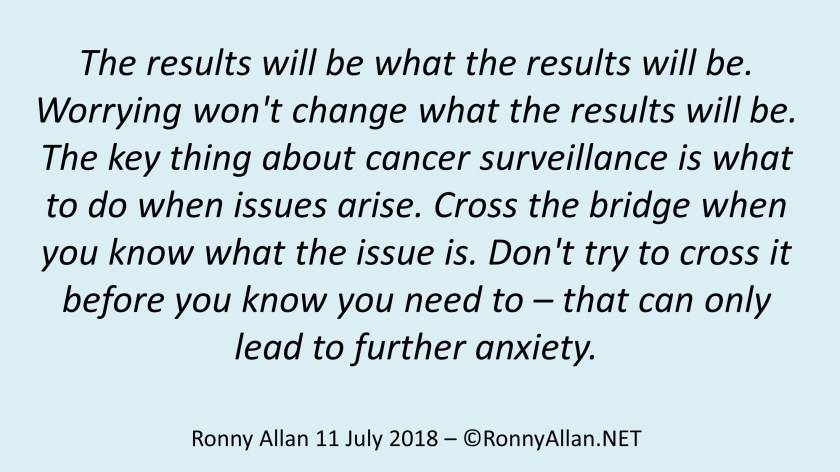 The results will be what the results will be 11 July 2018
