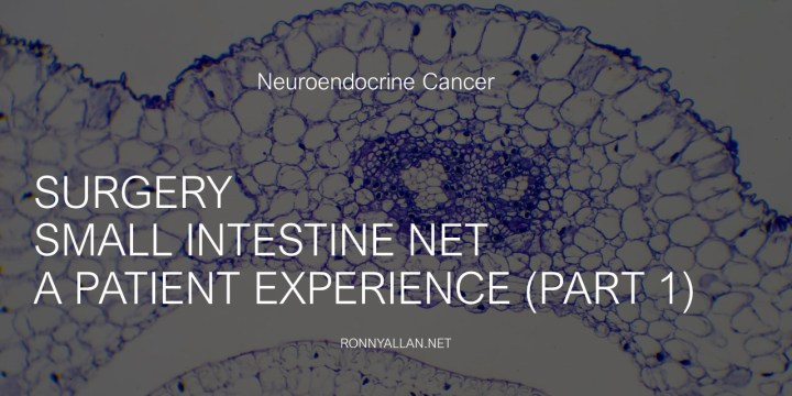 Neuroendocrine Cancer Surgery – Small Intestine NET, a patient experience (part 1)
