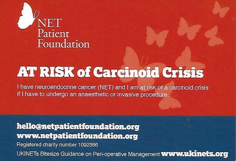Neuroendocrine Tumours - Let's give Carcinoid Crisis a red card!
