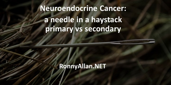 Neuroendocrine Cancer: a needle in a haystack – primary vs secondary