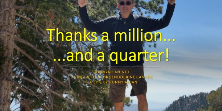 Thanks a MILLION (…and a quarter) !