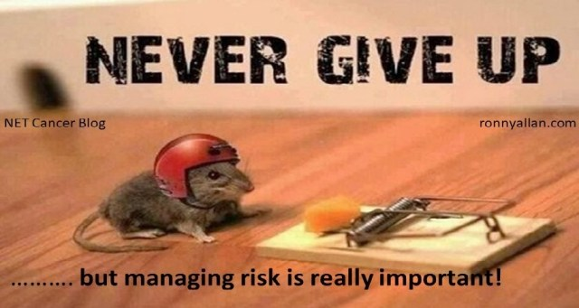never give up risks