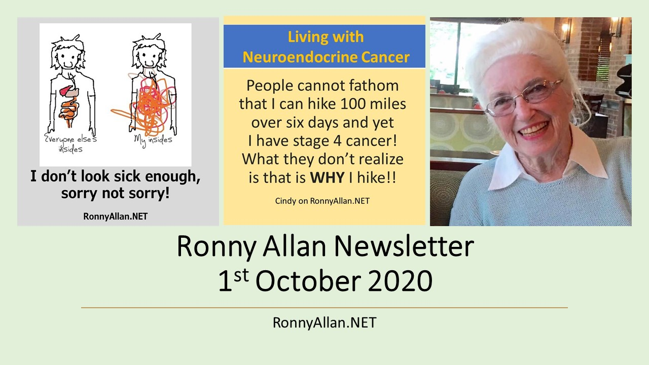 Ronny Allan Newsletter 1st October 2020