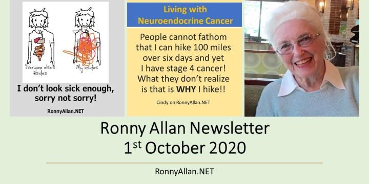 Ronny Allan Newsletter 1st October 2020