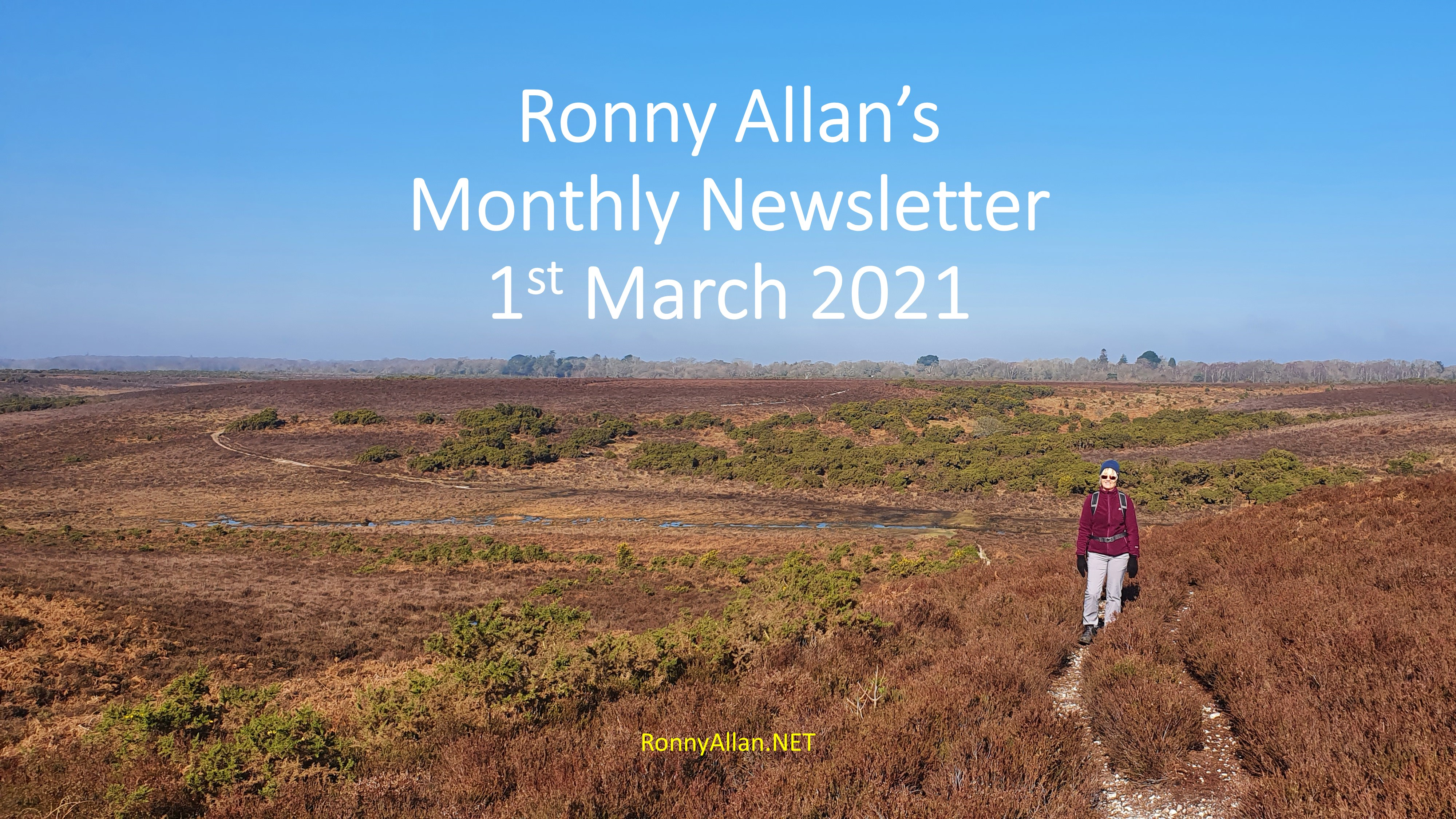 Ronny Allan Newsletter – 1st March 2021