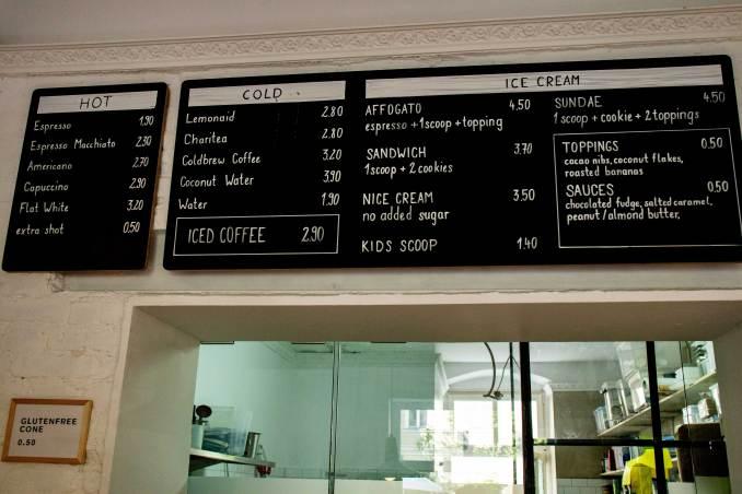 Tribeca menu