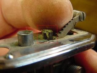 A dismally split flint tube