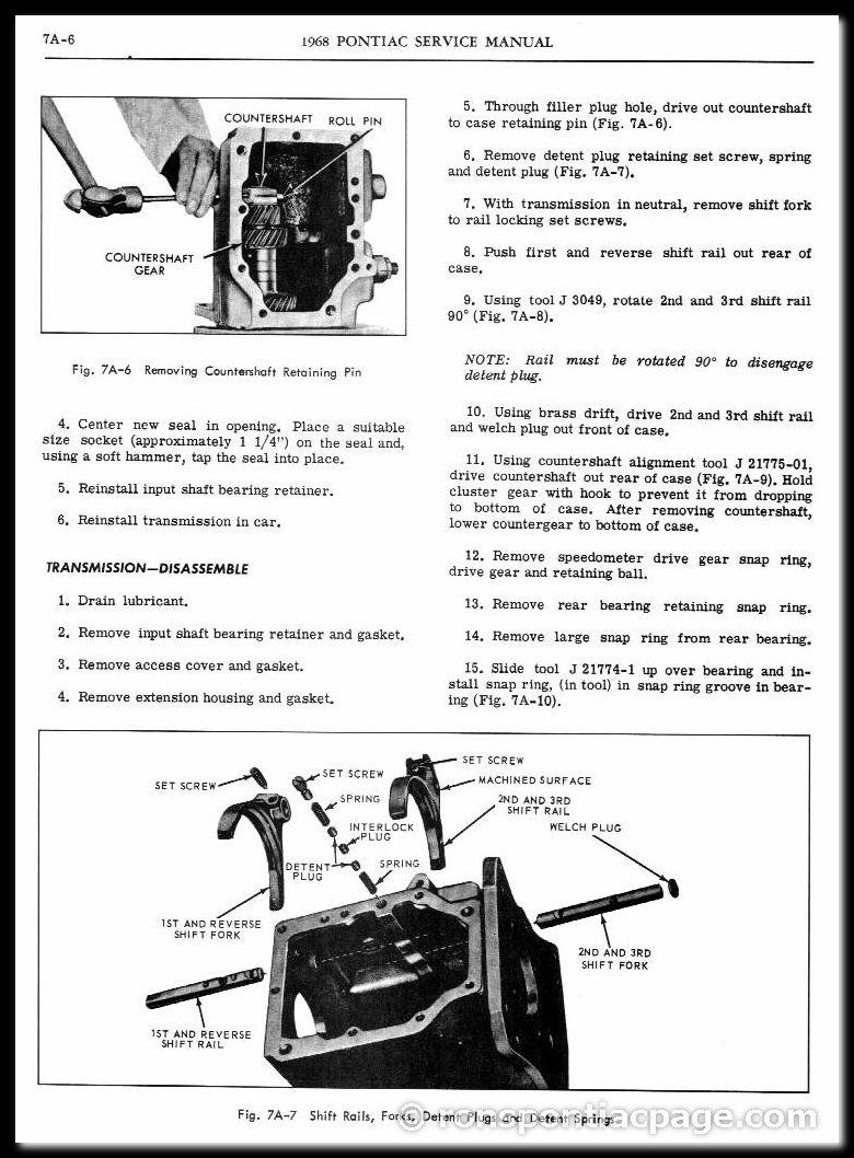 Section 7A: 3-Speed Dearborn Manual Transmission (6 of 14)