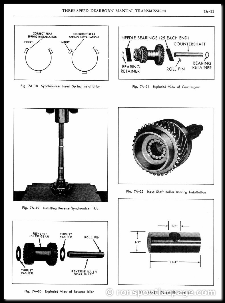 Section 7A: 3-Speed Dearborn Manual Transmission (11 of 14)