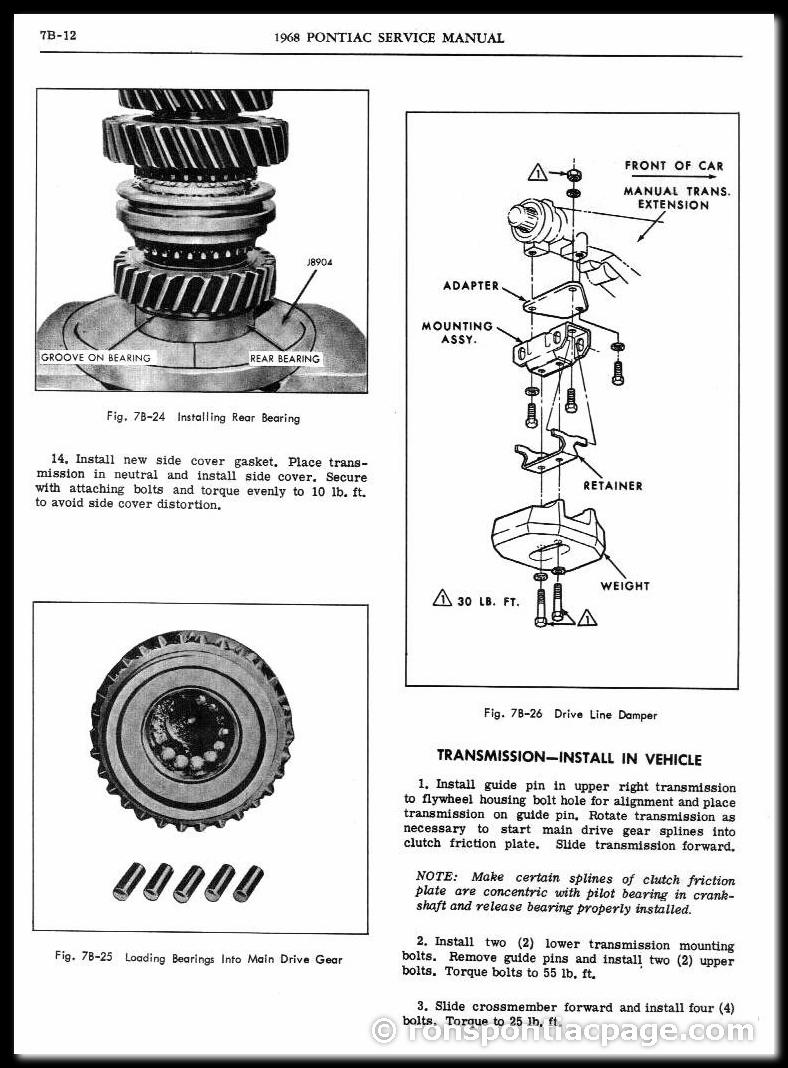 Section 7B: 3-Speed Saginaw Manual Transmission (12 of 14)