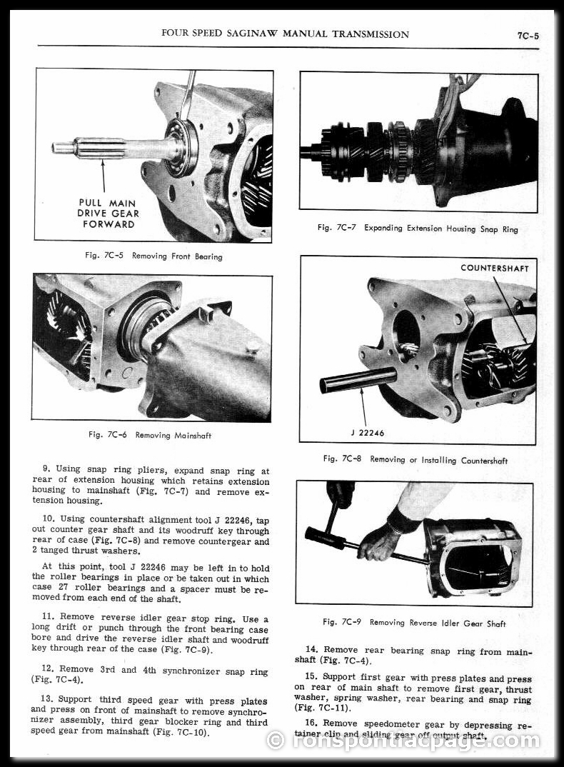 Section 7C: 4-Speed Saginaw Manual Transmission (5 of 9)