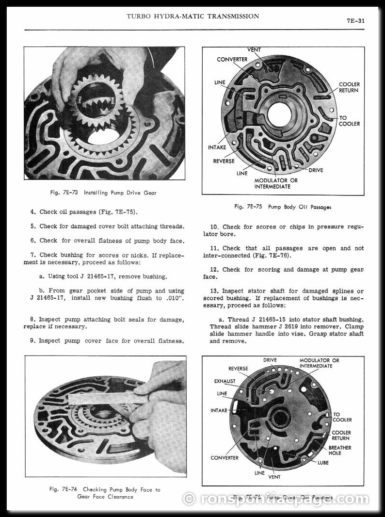 Section 7E: Turbo Hydra-Matic Automatic Transmission (31