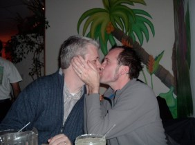 He got over his fear of PDA's. 2007