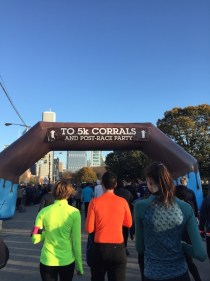 Making my way to the corrals.