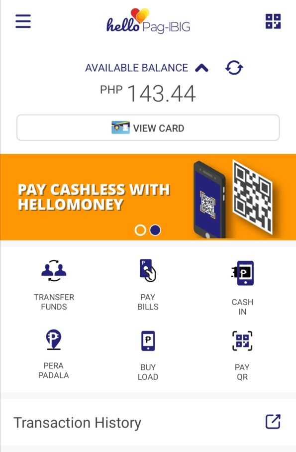 Hello Pag-IBIG app welcome screen