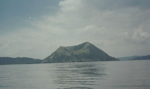 Binintiang Malaki crater as seen from Taal Lake