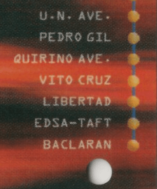Close up of ticket with Gil Puyat label missing