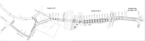 BGC Ortigas Center Bridge layout plan