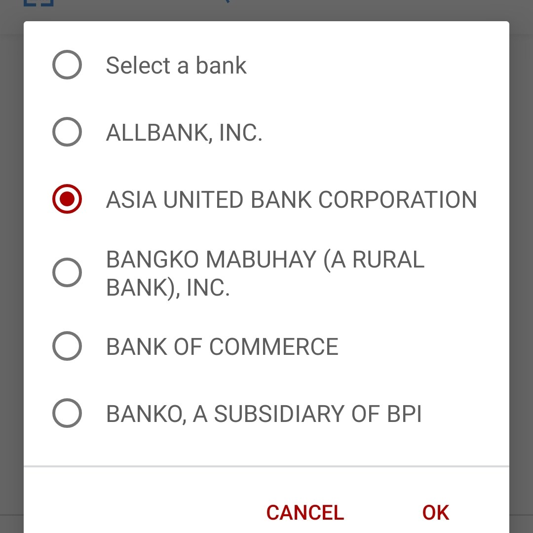 List of banks for InstaPay