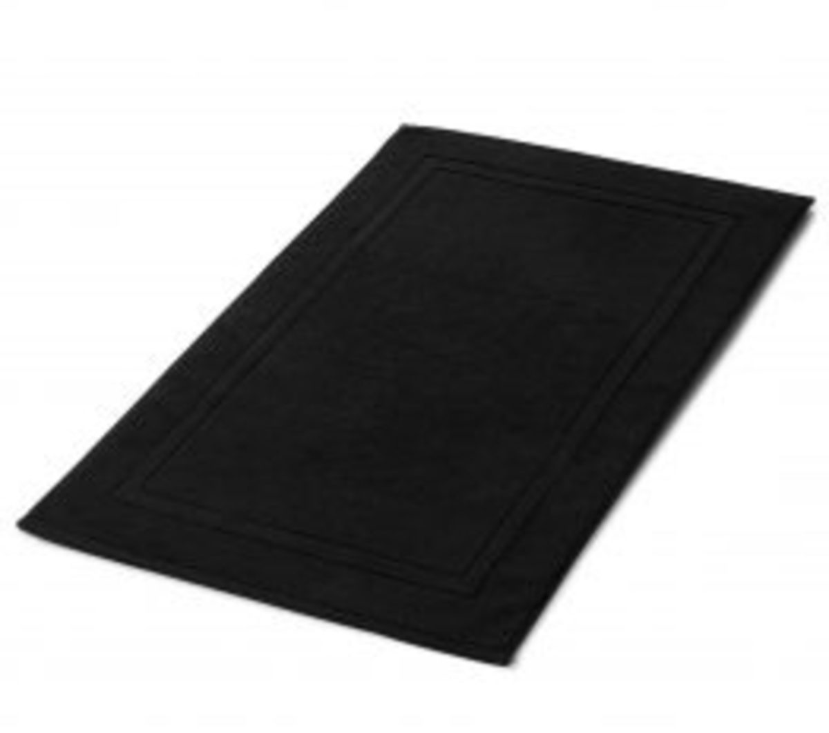 tapis de bain luxe noir coton 1000gr m neiperhome