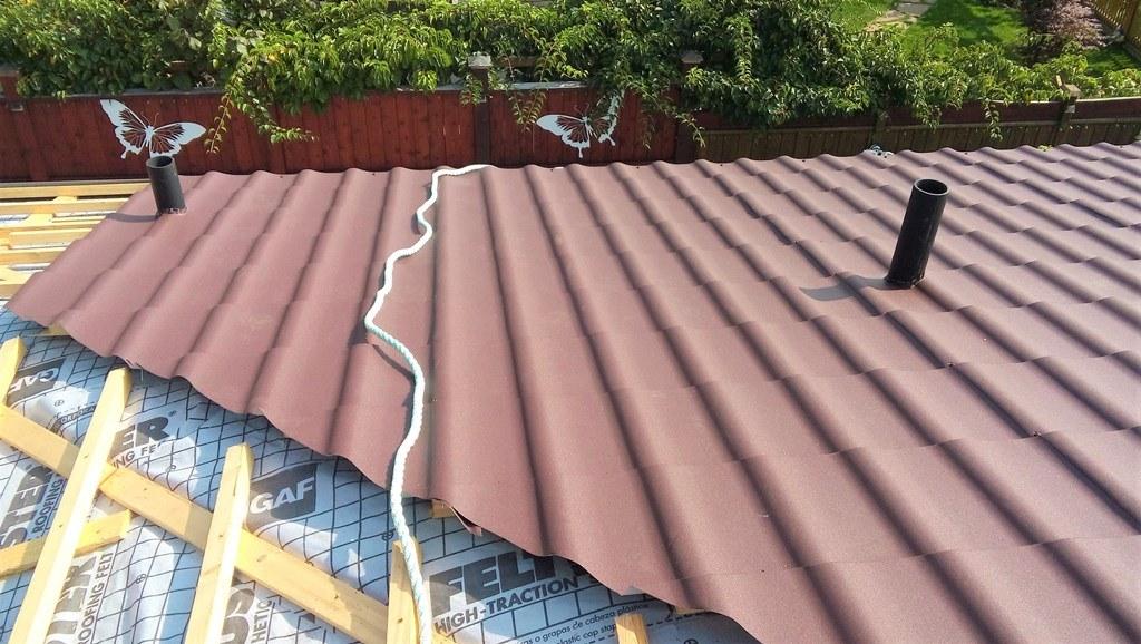 metal roof that looks like spanish tile