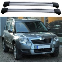 Skoda Yeti 4x4 2009+ Roof Rack Aero Cross Bars Set - Shark ...