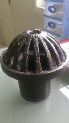 4 inch PVC Roof Drain w/ Cast Aluminum Dome
