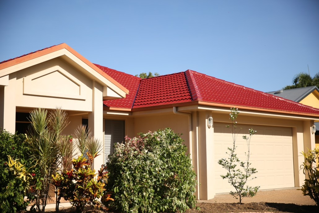 Tiled roof in Manor Red