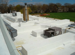 Studies estimate that modest increases in urban roof reflectivity could generate billions of dollars of economic prosperity for cities. Pictured here is the roof on the Cricket Club in Toronto. Photo: Steve Pataki