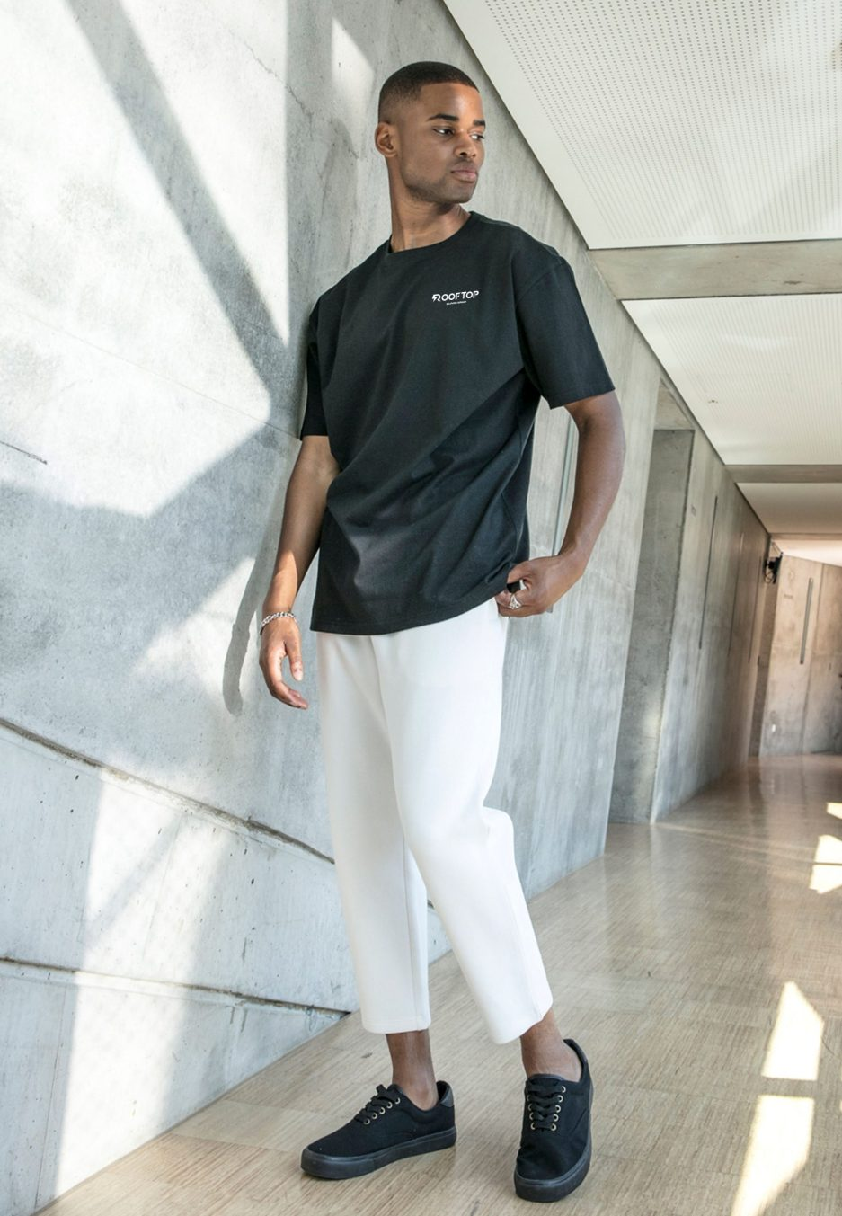 Oversize Shirt Rooftop Basic Black