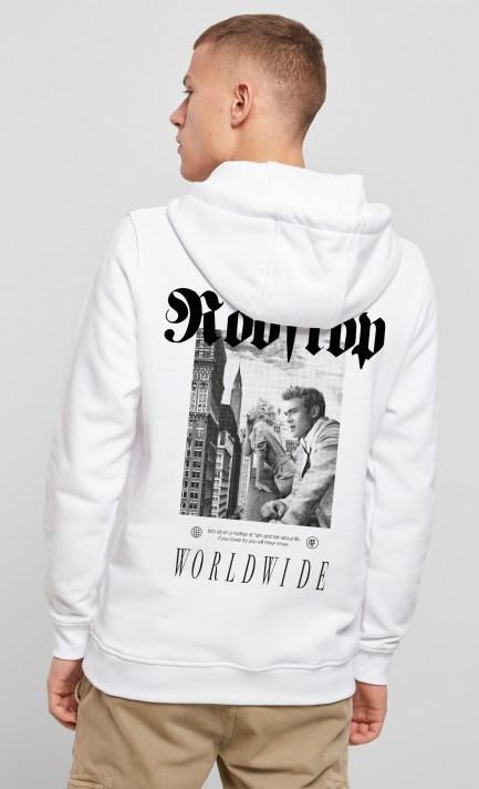 Hoodie Worldwide in White