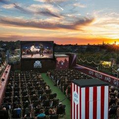 East London Sofa Cinema Ashley Sleeper Sectional Rooftop Film Club