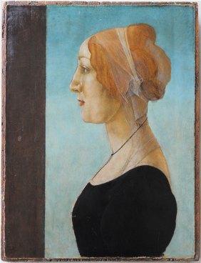 Botticelli, Sandro BOTTICELLI (1444-1510) Portrait of a Woman 1485 Tempera on wood 49,5 x 35,6 cm Private Collection, Bruxelles