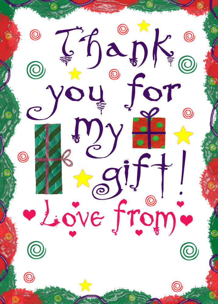 Simple Thank You Note Thank You For My Gift  Rooftop
