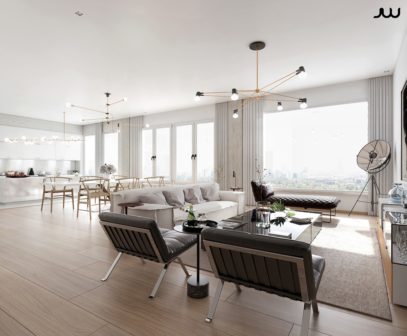 Awesome Luxury Apartment Design Ideas by Javier Wainstein   RooHome