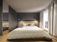 Minimalist And Simple Bedroom Design With Gray Shades ...