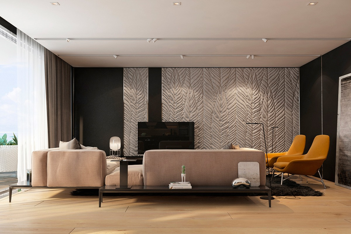Modern Apartment Design Ideas With The Soft And Sleek