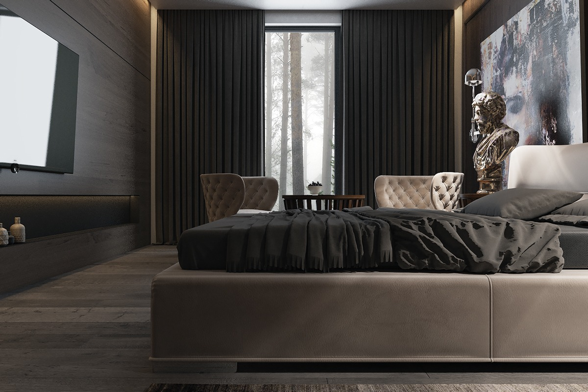 3 Amazing Dark Bedroom Interior Design