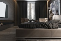 3 Amazing Dark Bedroom Interior Design - RooHome | Designs ...