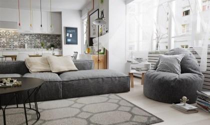 living nordic nordico interior modern apartments grayscale stile gestalten wohnung impression polstersofa grigio salotto space cheerful wohnzimmer duan scandinavian einrichtungen