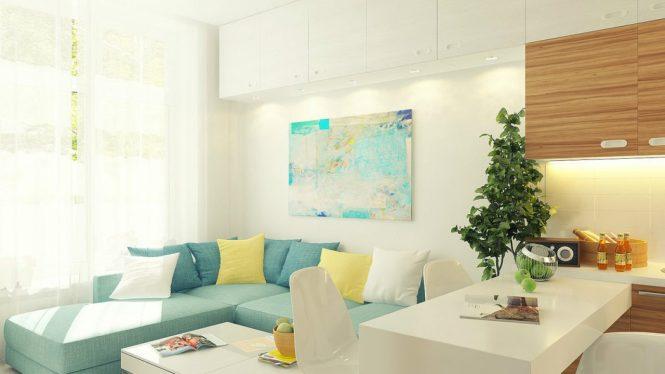 Stylish Small Apartment Design Painting