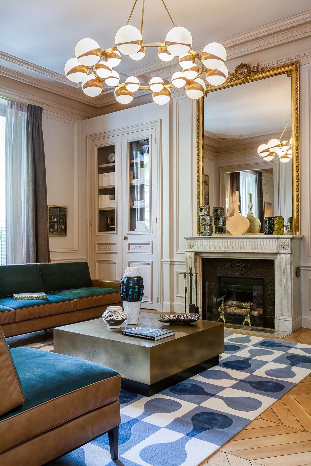 Modern Luxury Apartment Interior Design by Mathieu Fiol   RooHome   Designs & Plans