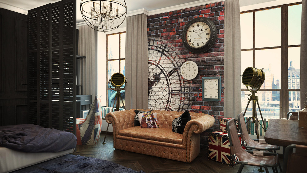 2 Industrial Apartment Interior Design That Will Inspiring You  RooHome