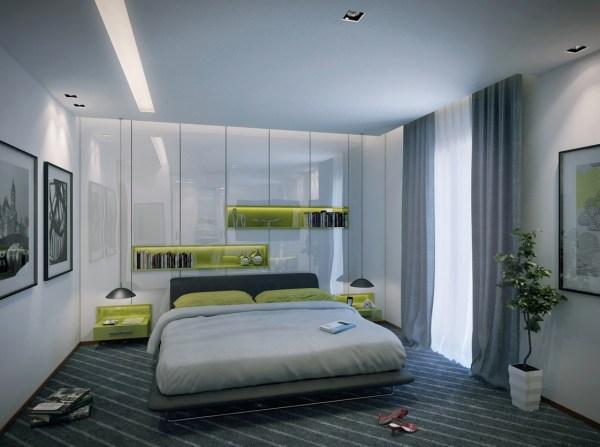 apartment bedroom design ideas 2 Contemporary Apartment Design Ideas by Mahmoud Keshta - RooHome