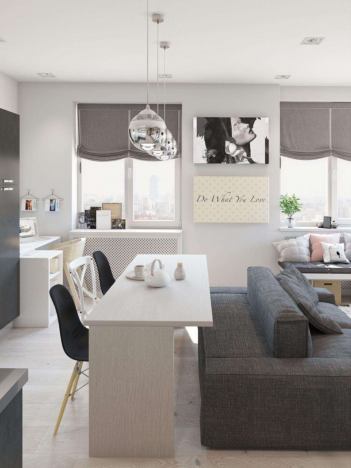Studio Apartment Interior Design With Cute Decorating Ideas   RooHome