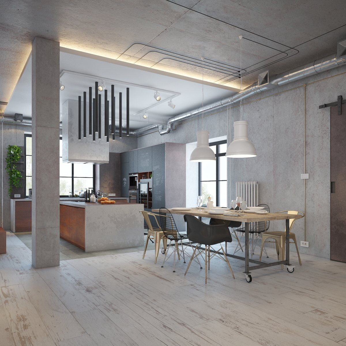 Industrial House Design and Decor For Stylish Appearance
