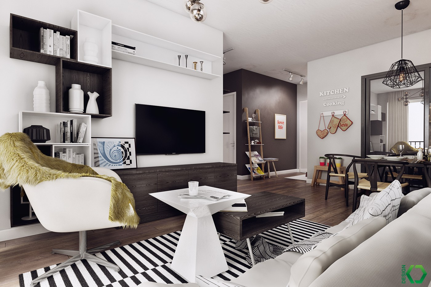 This is the last article before my summer vacation. A Charming Nordic Apartment Interior Design by Koj Design ...