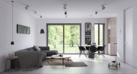 2 Open Plan Living and dining room design with Sleek ...